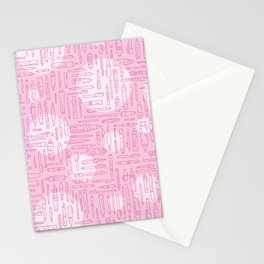 Pink Pens Stationery Cards