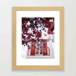 Cherry Blossoms in Mykonos Framed Art Print