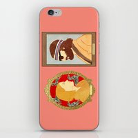 royal tenenbaums iPhone & iPod Skins featuring The Royal Tenenbaums by Anna Valle