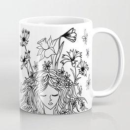 Sring portrait in black and white mood Coffee Mug