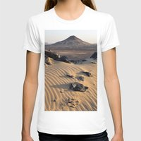 egypt T-shirts featuring Black Desert, Egypt by Andrii Turtsevych