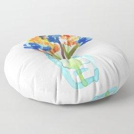 Orange Bouquet Floor Pillow