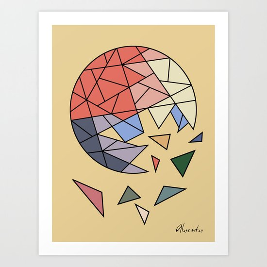 CONSTANT EVOLUTION (abstract geometric) Art Print