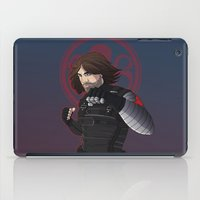 the winter soldier iPad Cases featuring Winter Soldier  by Inkforwords