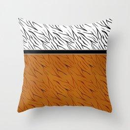 Yellow black tiger pattern . Throw Pillow
