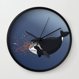 Pinocchio and the Bowhead whale Wall Clock