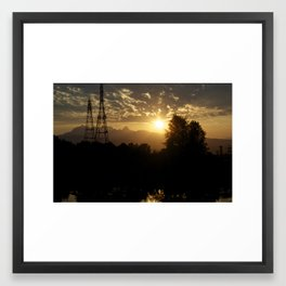 Two sources of Power Solar & Hydro Electric Framed Art Print