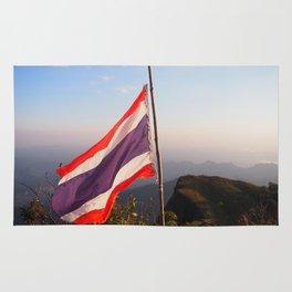 Thai flag on Mountain Rug