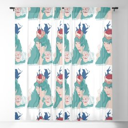 Blue hair Blackout Curtain