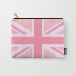 Pink Union Jack/Flag Design Carry-All Pouch