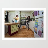 Domestic Duality Art Print