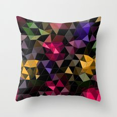 Shatter into color Throw Pillow
