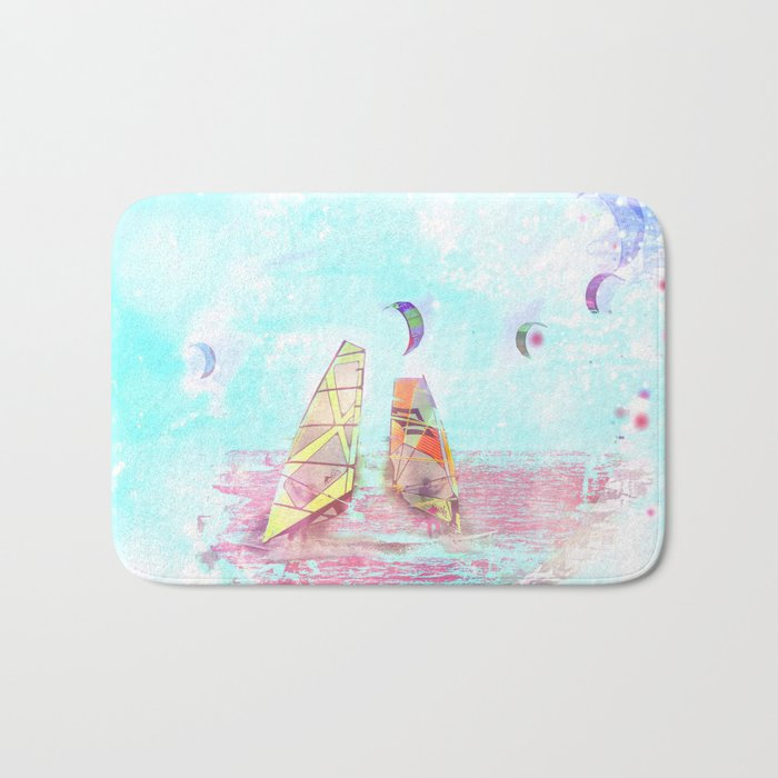 Surfen on Baltic sea Bath Mat