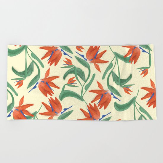 Birds In Paradise Beach Towel