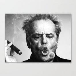 Jack Nicholson Cigar Canvas Print
