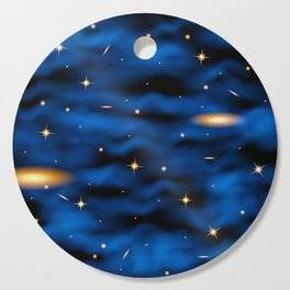 Space nebula background. Cutting Board