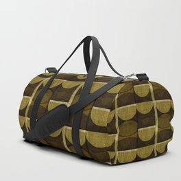 """""""Retro Olive green Chained Circles"""" Duffle Bag"""