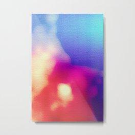 BLUR / coral Metal Print