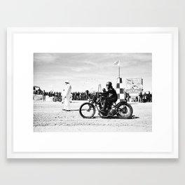 The Race of Gentlemen bw 14 Framed Art Print