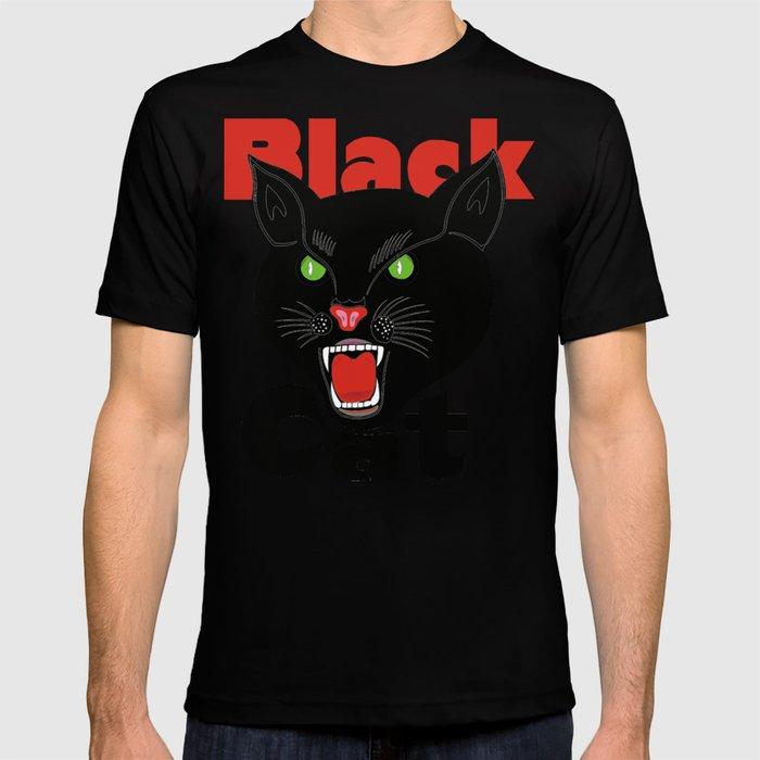 eb61d8e48 Black Cat Fireworks T-shirt cool retro novelty 70's 80's vintage tee T-shirt