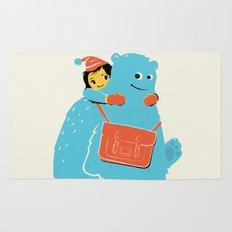Blue-Monster Piggy-Ride Rug