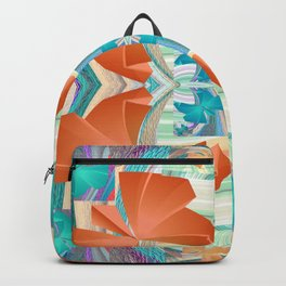 Smooth 3D Butterfly Floral Fractal Backpack