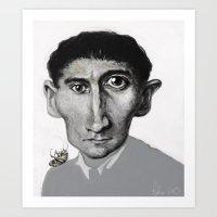 kafka Art Prints featuring Kafka by Sasha Brito