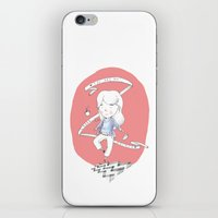 laura palmer iPhone & iPod Skins featuring You are my Laura Palmer by Lionel Hotz