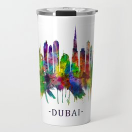 Dubai United Arab Emirates Skyline Travel Mug