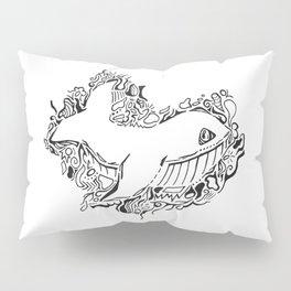 Whale Lineart Pillow Sham