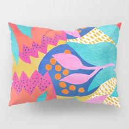 Bold Flower Pattern Yellow Background Pillow Sham