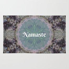 Ocean Nature Art Namaste photograph coastal decor, yoga studio art yogi Rug