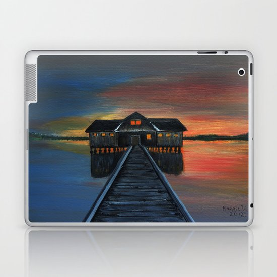 Old boat house  Laptop & iPad Skin