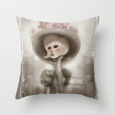 Bloom in the City Throw Pillow