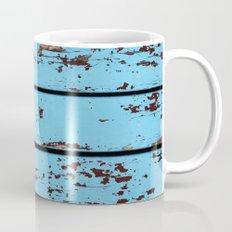 Blue Wooden Planks Mug