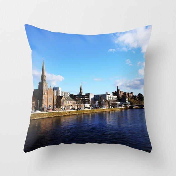On The Bridge - Inverness - Scotland Throw Pillow