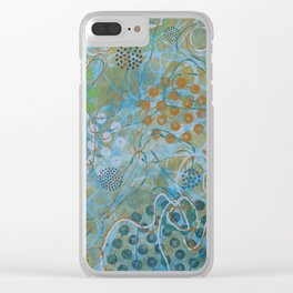 Psychedelic Sea Clear iPhone Case