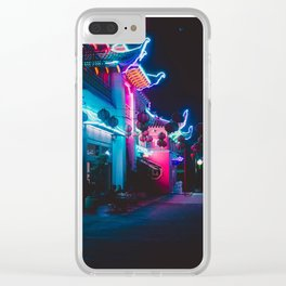 Neon Building Clear iPhone Case