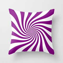 Swirl (Purple/White) Throw Pillow