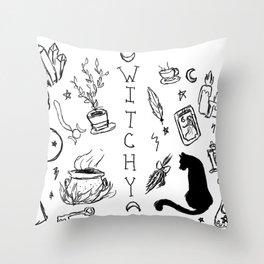 Feelin' Witchy Throw Pillow
