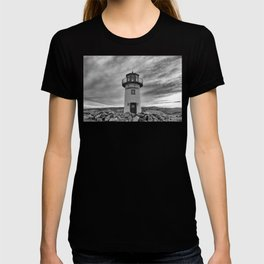 Lighthouse on the Sea (Black and White) T-shirt