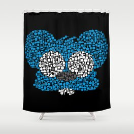 They Fight & Bite Shower Curtain