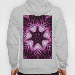 Bright Dark Violet Wine Red Abstract Blossom #purple #kaleidoscope Hoody