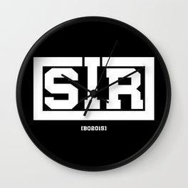 Sir - BQ Wall Clock