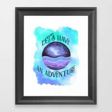 Let's Have an Adventure - Boho Wanderlust Watercolor Framed Art Print