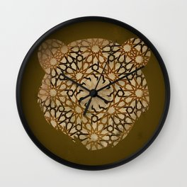 Brown Bear  Wall Clock