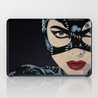 catwoman iPad Cases featuring Catwoman by Cassidy Dawn