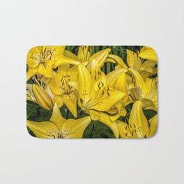 Golden Lilies Bath Mat