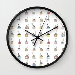 les petites maisons douillettes Wall Clock