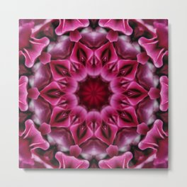 Red Floral Abstract Tile 54 Metal Print